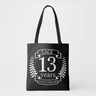 Lace Traditional wedding anniversary 13 years Tote Bag