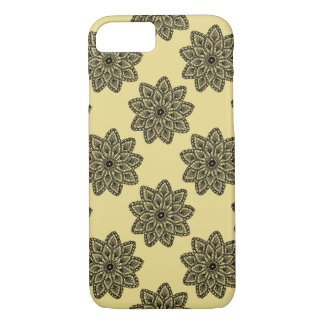 Lace with beige background iPhone 7 case