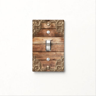Lace Wood Rustic Vintage Western Elegant Romantic Light Switch Cover