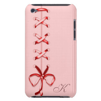 Laced Up Red Ribbon iPod Touch Cases
