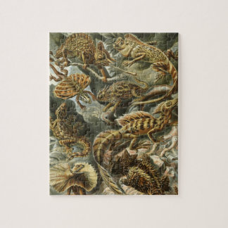 Lacertilia by Ernst Haeckel Vintage Lizard Animals Puzzles