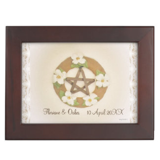 Lacey Dogwood Pentacle Handfasting Cord Keepsake Box