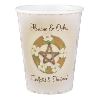Lacey Dogwood Pentacle Handfasting Paper Cup