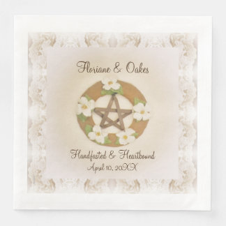 Lacey Dogwood Pentacle Handfasting Paper Dinner Napkin