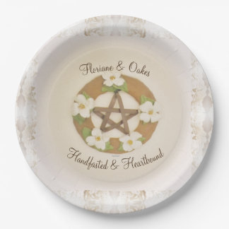 Lacey Dogwood Pentacle Handfasting Paper Plate