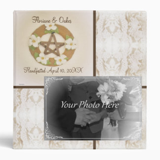 Lacey Dogwood Pentacle Handfasting Photo Album 3 Ring Binder