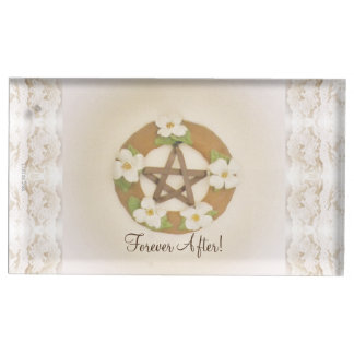 Lacey Dogwood Pentacle Handfasting Table Number Holder
