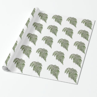 Lacey fern wrapping paper