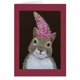 Lacey the squirrel greeting card