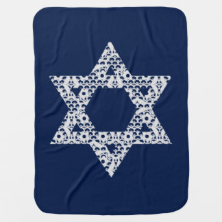 Lacey White Star of David Baby Blanket