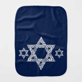 Lacey White Star of David Burp Cloth