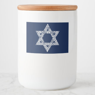 Lacey White Star of David Food Label