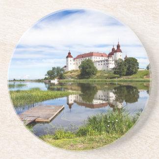 Läckö castle drink coasters