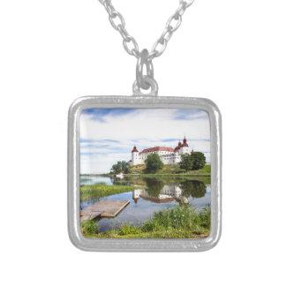 Läckö castle silver plated necklace