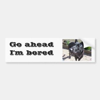 Lacquer Black German Shepherd Bumper Sticker