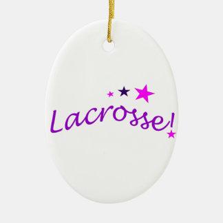 Lacrosse arquée avec des étoiles décoration pour sapin de noël