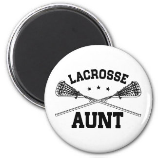 Lacrosse Aunt 2 Inch Round Magnet