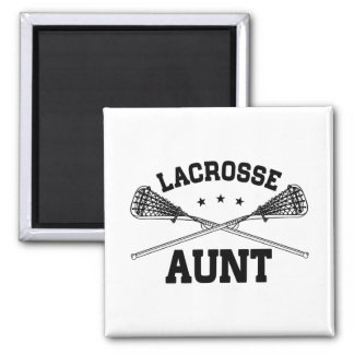 Lacrosse Aunt Square Magnet