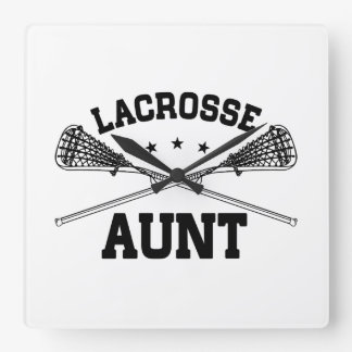 Lacrosse Aunt Square Wall Clock