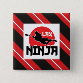 Lacrosse Badge, LAX Ninja 2 Inch Square Button
