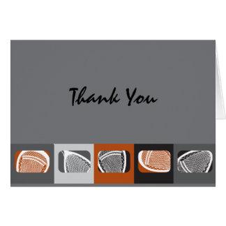 LACROSSE  Bar Mitzvah Invitation Thank You Card