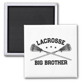 Lacrosse Big Brother Square Magnet