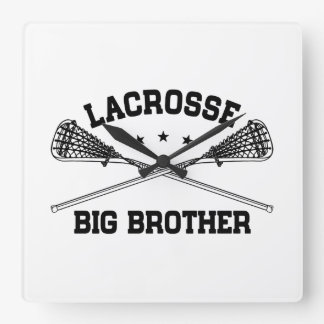 Lacrosse Big Brother Square Wall Clock