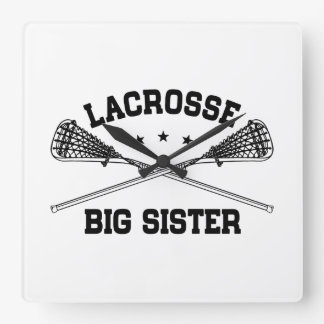 Lacrosse Big Sister Square Wall Clock