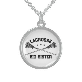Lacrosse Big Sister Sterling Silver Necklace
