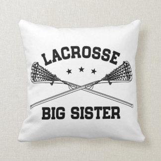 Lacrosse Big Sister Throw Pillow