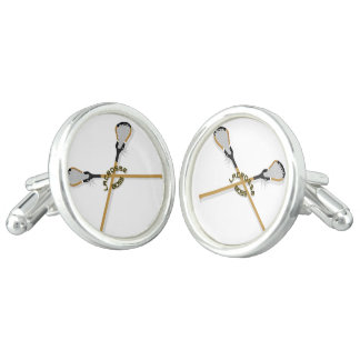 Lacrosse Boss Crossed Sticks Cufflinks