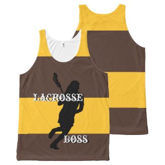 Lacrosse Boss F Brown and Gold Striped