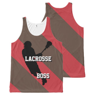 Lacrosse Boss M Red and Brown Striped