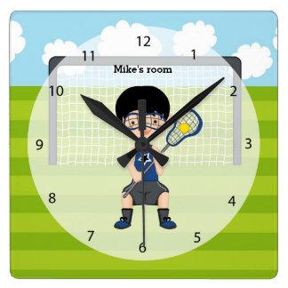 Lacrosse boy wall clocks