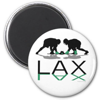 Lacrosse Boys LAX Green 2 Inch Round Magnet