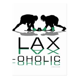 Lacrosse Boys LAX oholic Green Postcard