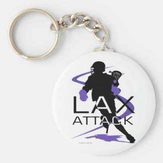 Lacrosse Boys LAX Purple Keychain