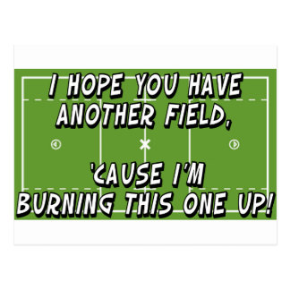 Lacrosse Burning Field Postcard