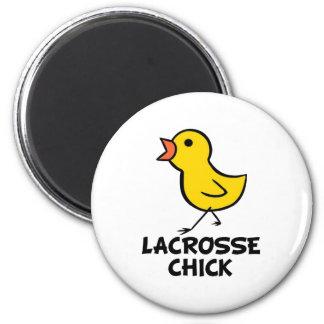 Lacrosse Chick Magnet
