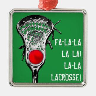 lacrosse Christmas cheer Metal Ornament