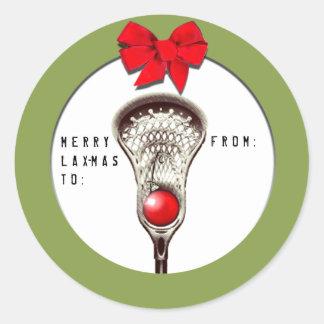 Lacrosse Christmas Classic Round Sticker