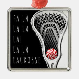 Lacrosse Christmas Metal Ornament