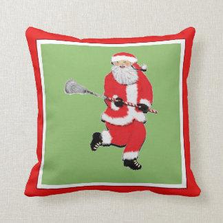 Lacrosse Christmas Throw Pillow
