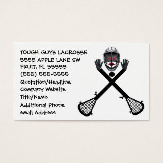 Lacrosse Coach Business Card