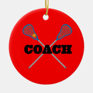 Lacrosse Coach Gift Idea Ceramic Ornament