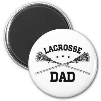 Lacrosse Dad 2 Inch Round Magnet