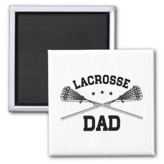 Lacrosse Dad Square Magnet