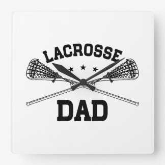 Lacrosse Dad Square Wall Clock