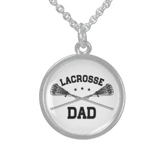 Lacrosse Dad Sterling Silver Necklace