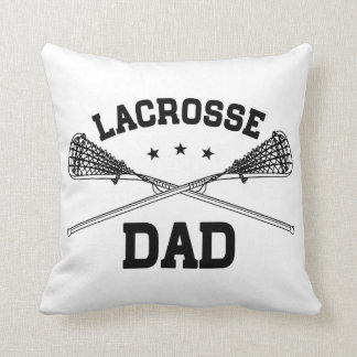 Lacrosse Dad Throw Pillow
